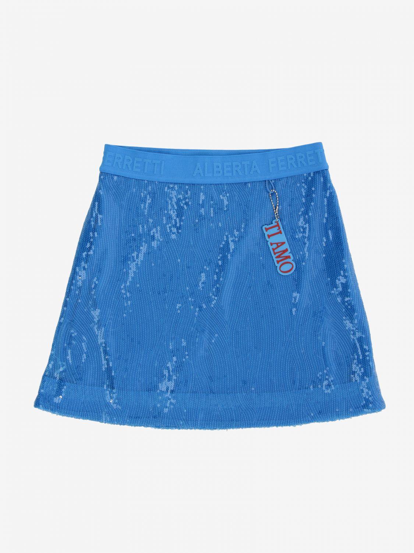 Skirt Alberta Ferretti Junior: Skirt kids Alberta Ferretti Junior turquoise 1