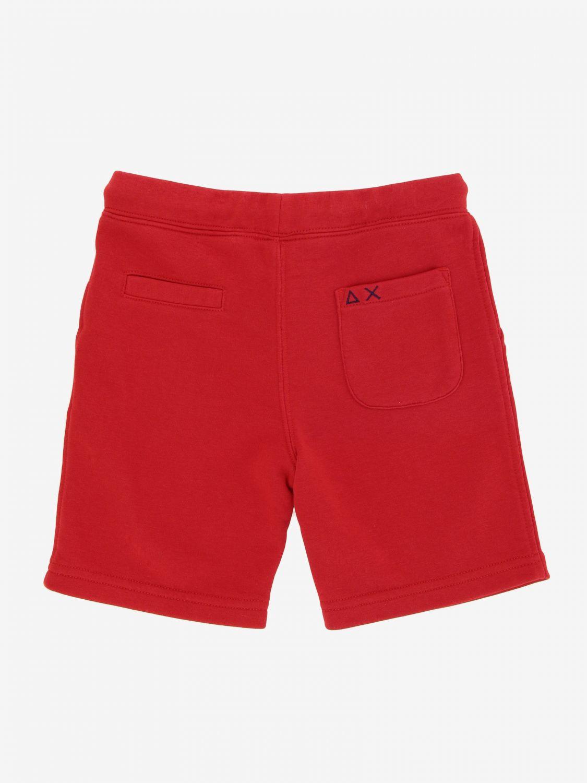 Pantalón corto niños Sun 68 rojo 2