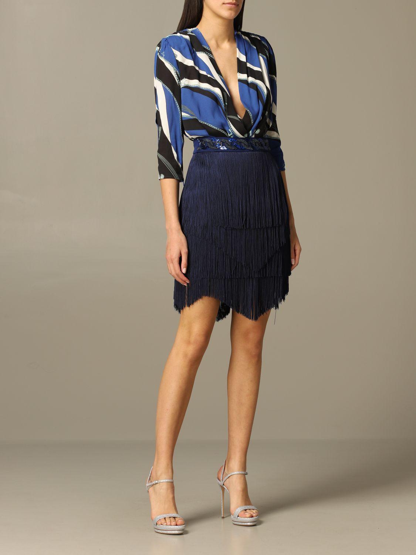Jupe femme Elisabetta Franchi bleu 2