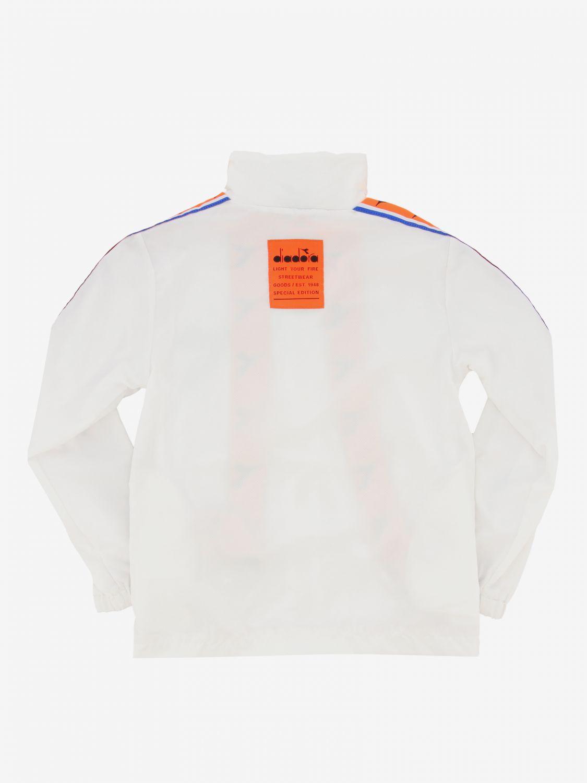 Diadora Sweatshirt mit Reißverschluss und Logo weiß 2