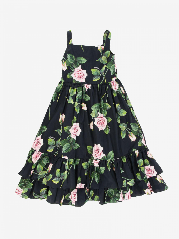 Abito Dolce & Gabbana: Abito Dolce & Gabbana a fantasia floreale rosa 1