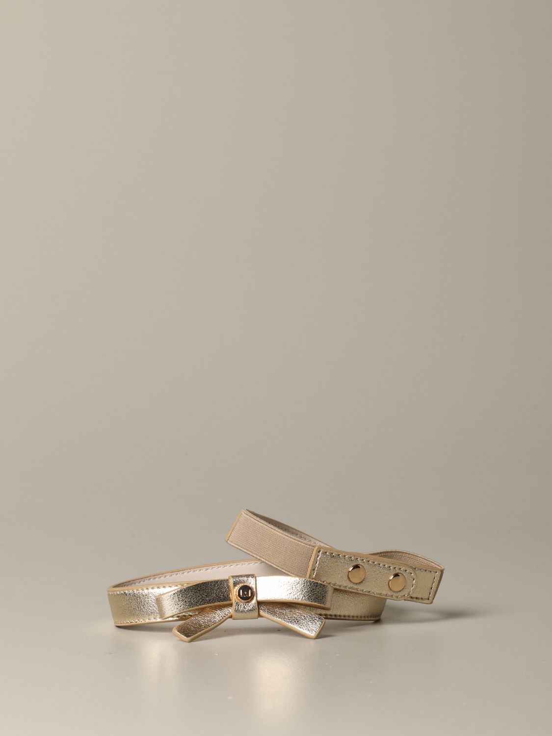 Liu Jo belt in laminated leather with bow gold 1