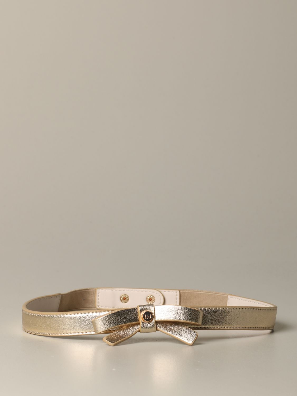 Liu Jo belt in laminated leather with bow gold 2
