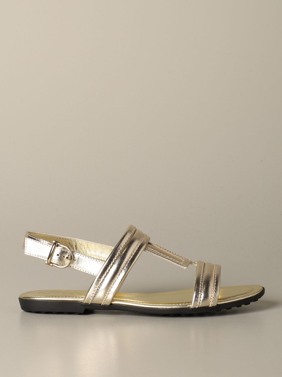 Flat sandals Tods: Shoes women Tod's gold 1