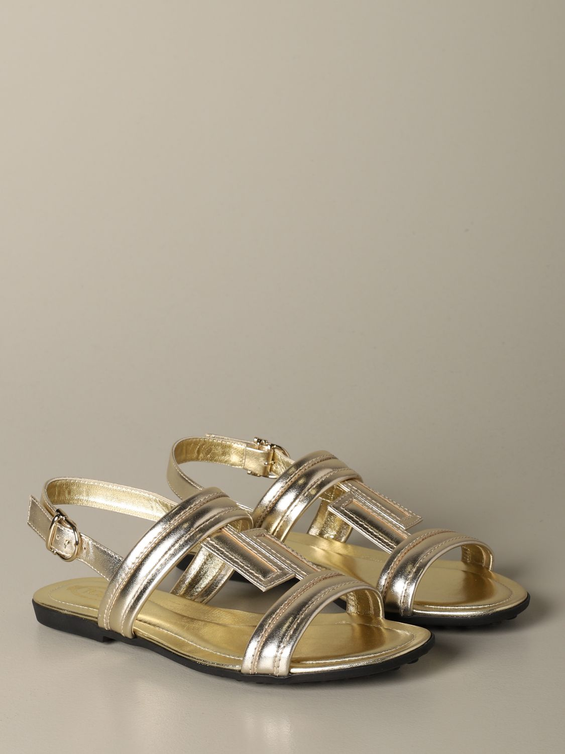 Flat sandals Tods: Shoes women Tod's gold 2