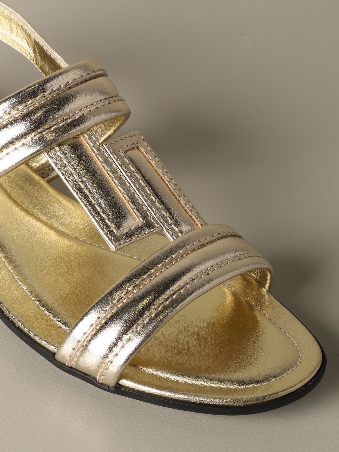 Flat sandals Tods: Shoes women Tod's gold 3