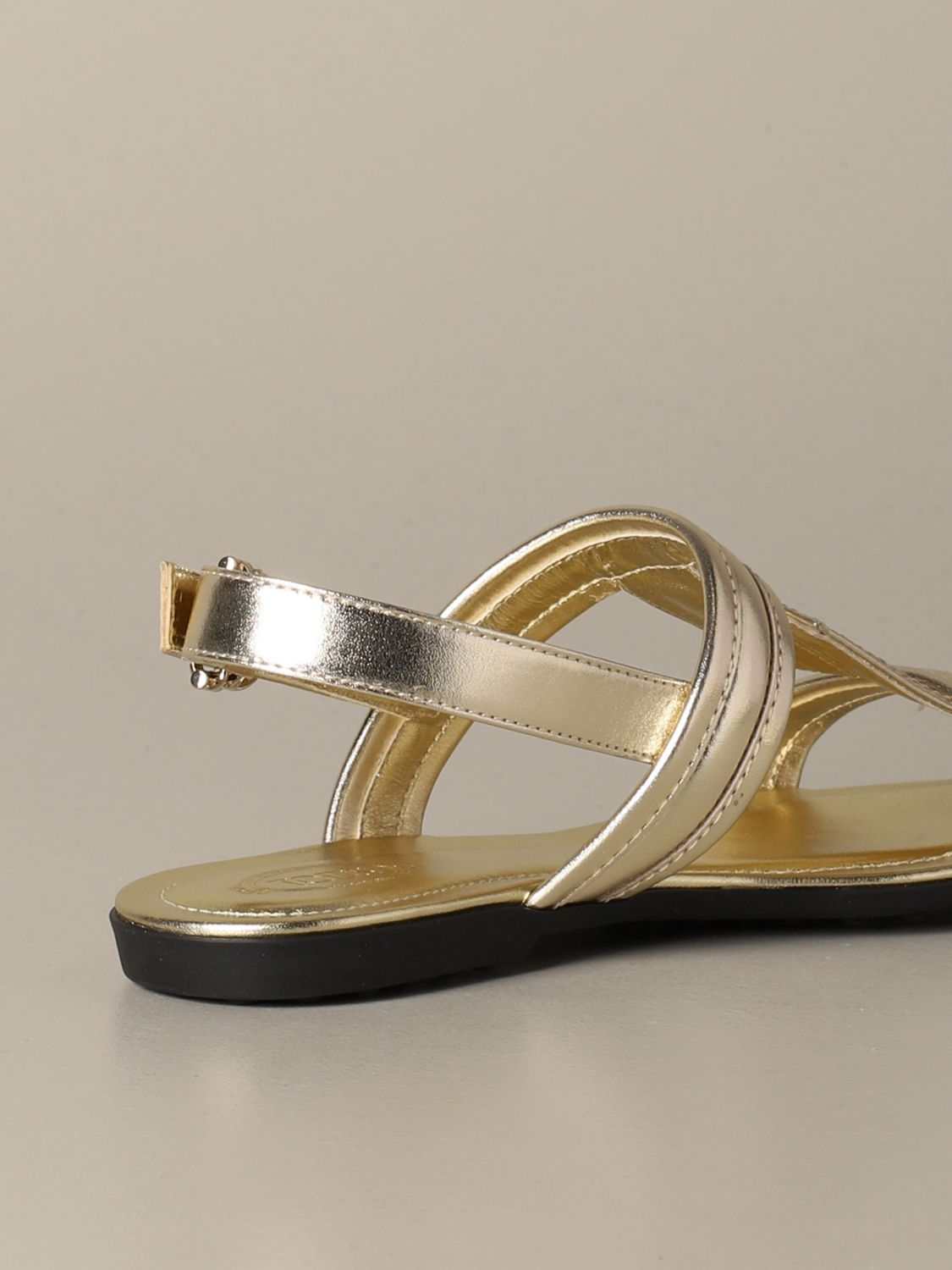 Flat sandals Tods: Shoes women Tod's gold 4