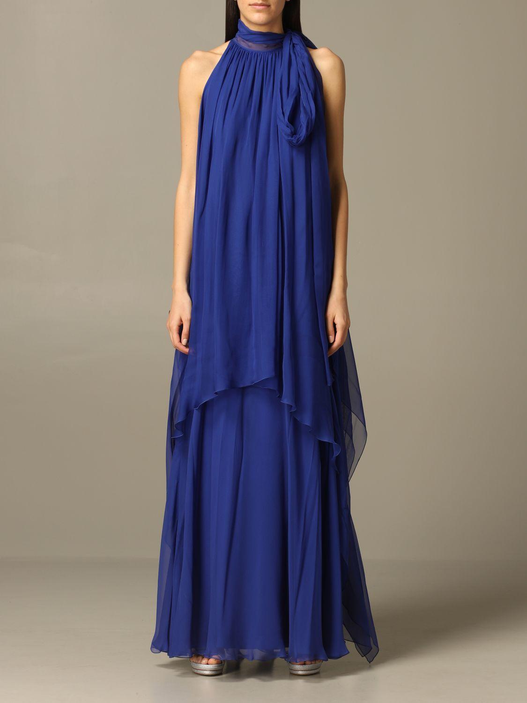 连衣裙 Alberta Ferretti: 连衣裙 女士 Alberta Ferretti 蓝色 1