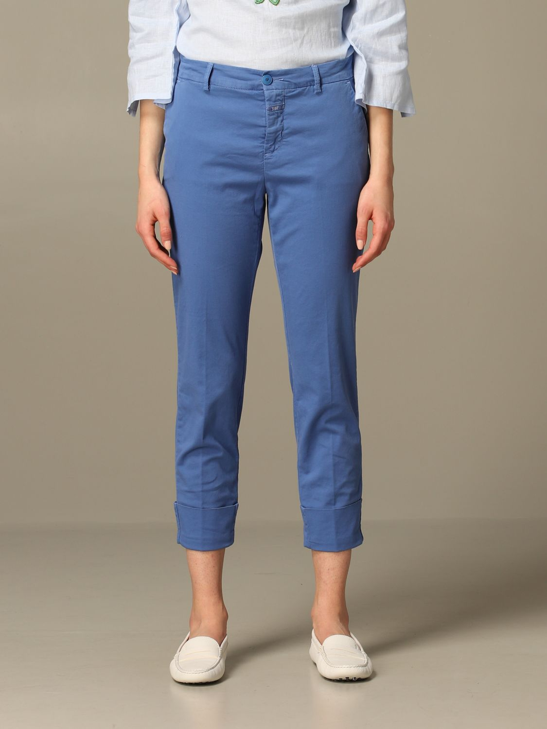 Trousers Closed: Trousers women Closed gnawed blue 1