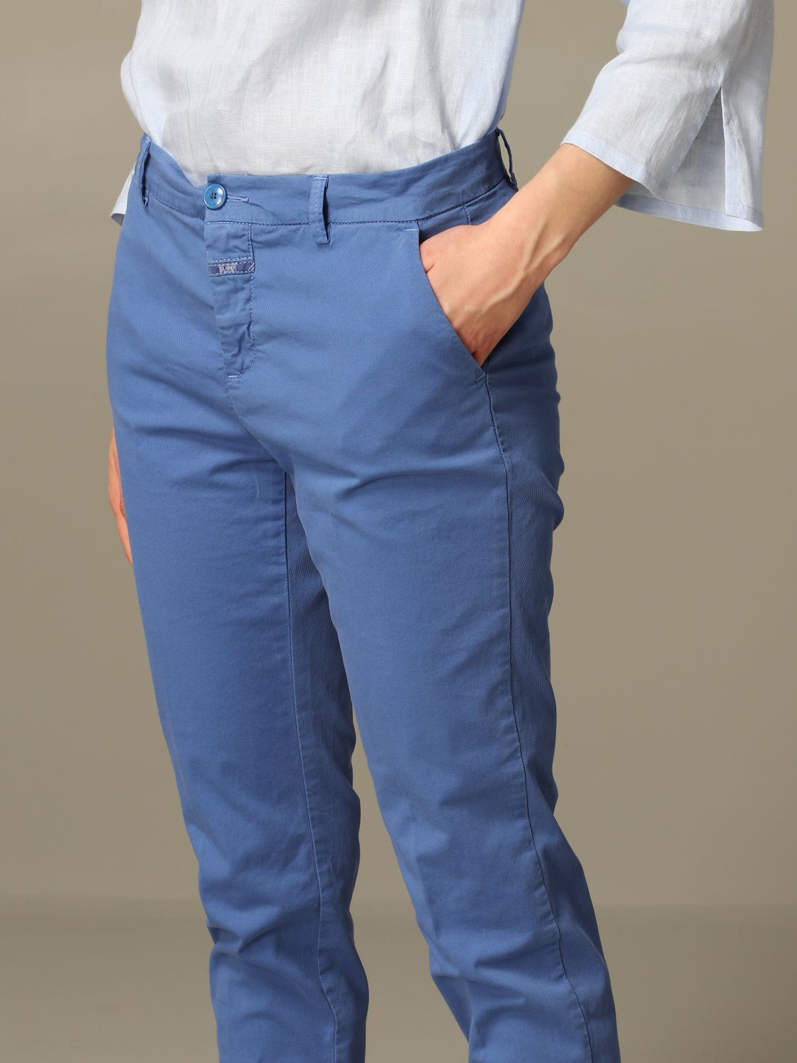 Trousers Closed: Trousers women Closed gnawed blue 3