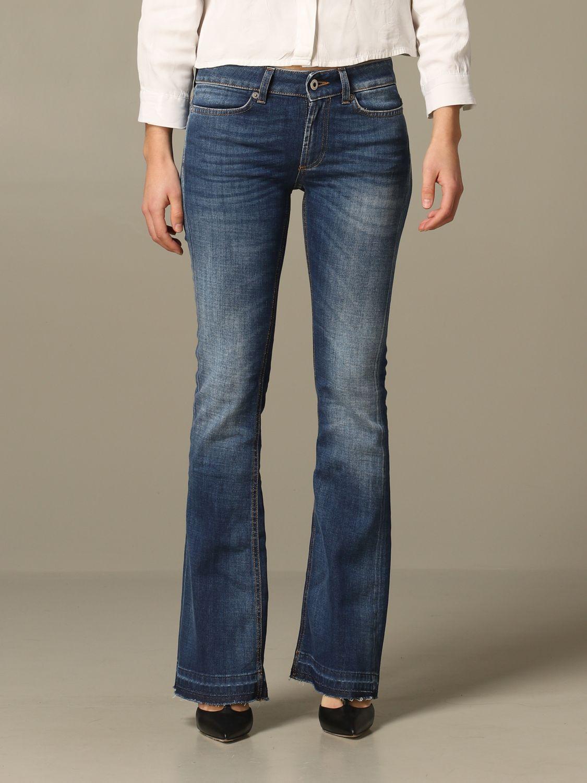 DONDUP jeans da slim fit a vita bassa denim blu nuovo MOLTE TAGLIE DISPONIBILI.