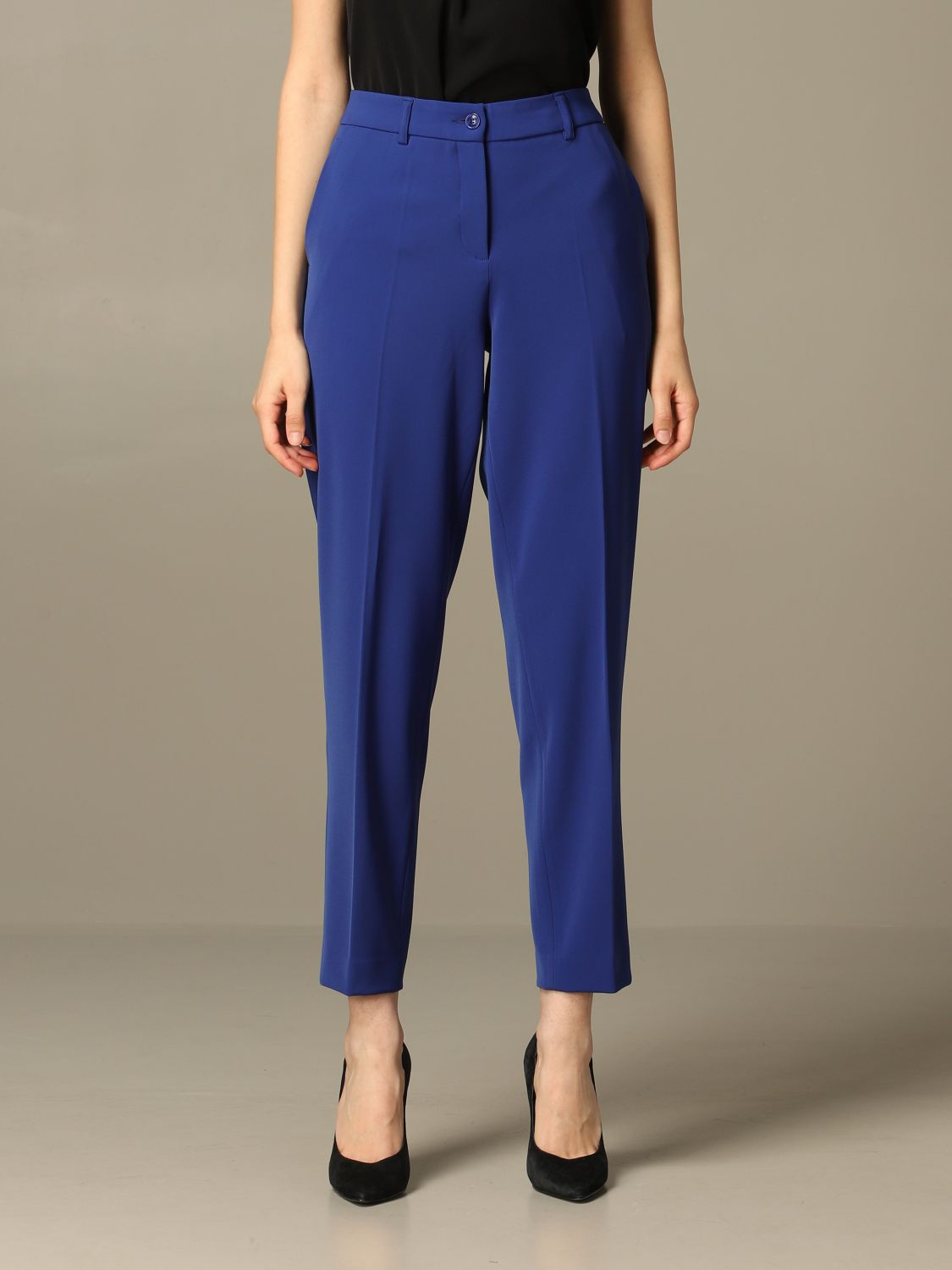 Trousers Boutique Moschino: Trousers women Boutique Moschino blue 1