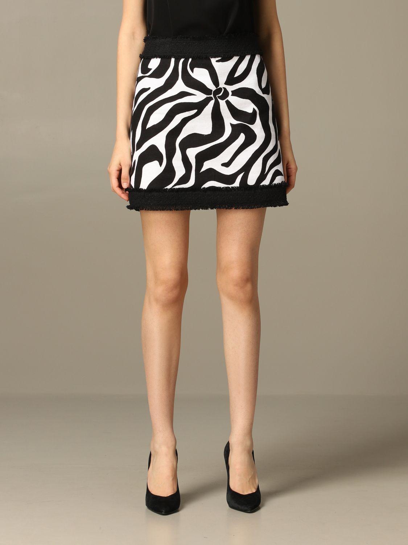 Jupe Boutique Moschino à motif stylisé noir 1