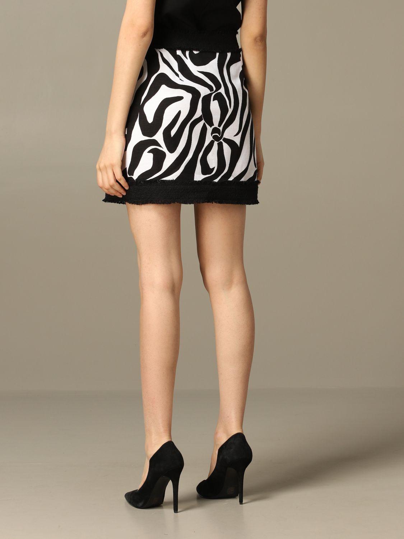 Jupe Boutique Moschino à motif stylisé noir 2