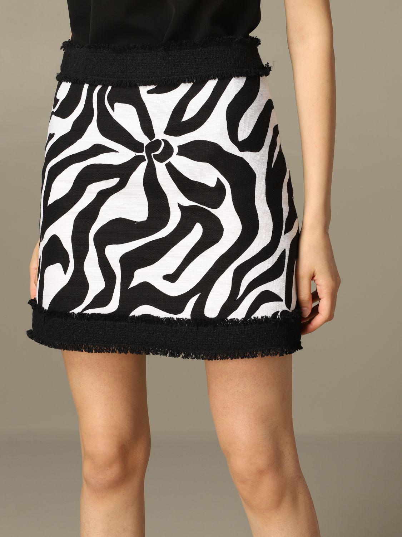 Jupe Boutique Moschino à motif stylisé noir 3