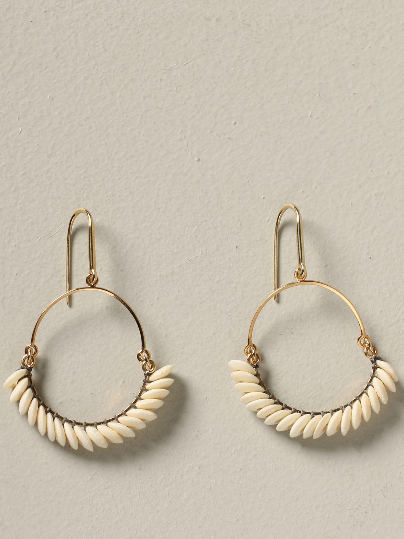 Orecchini Isabel Marant con perline beige 1