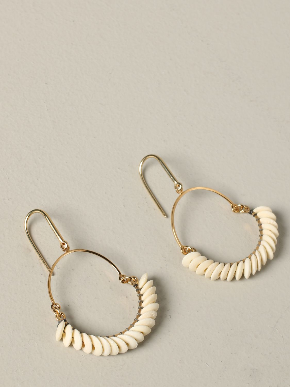 Orecchini Isabel Marant con perline beige 3