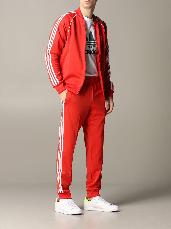 Pantalon de jogging Adidas Originals avec logo rouge 2