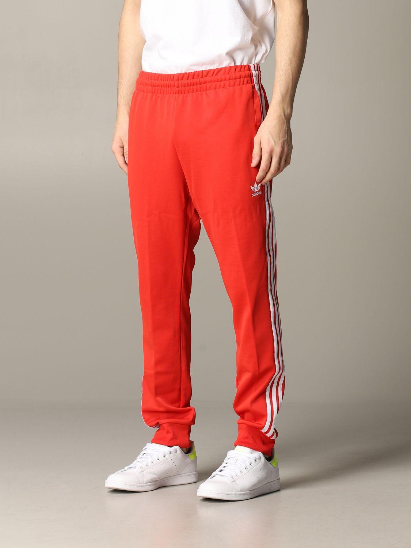 Pantalon de jogging Adidas Originals avec logo rouge 4