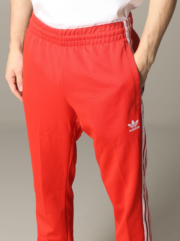 Pantalon de jogging Adidas Originals avec logo rouge 5