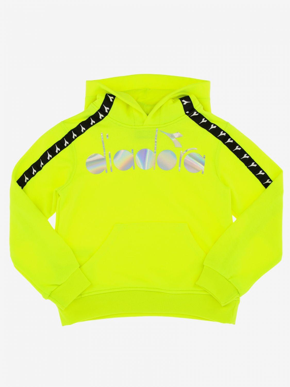 Maglia Diadora: Felpa Diadora con cappuccio e logo giallo 1