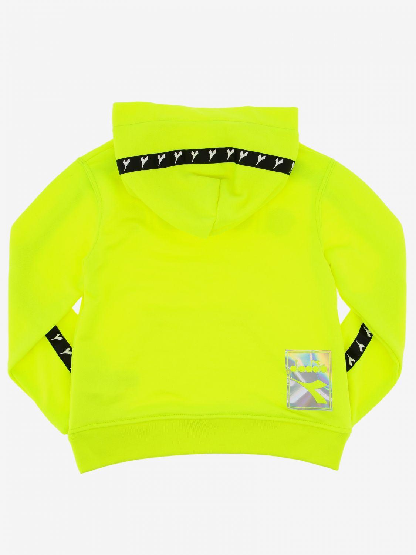 Maglia Diadora: Felpa Diadora con cappuccio e logo giallo 2
