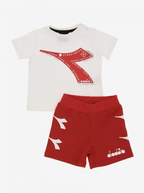 Completo Diadora: Completo t-shirt + pantaloncino Diadora bianco 1