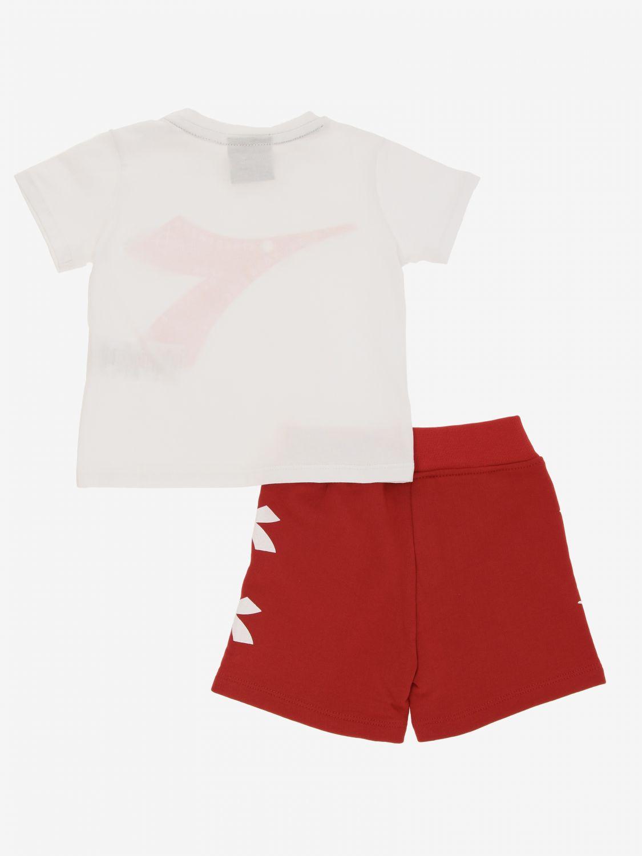 Completo Diadora: Completo t-shirt + pantaloncino Diadora bianco 2