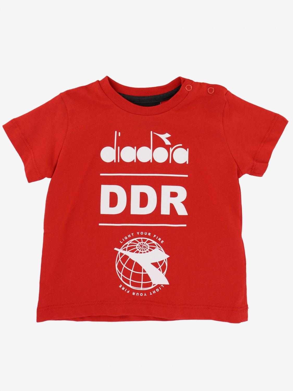 T-shirt Diadora: T-shirt Diadora a maniche corte con logo rosso 1