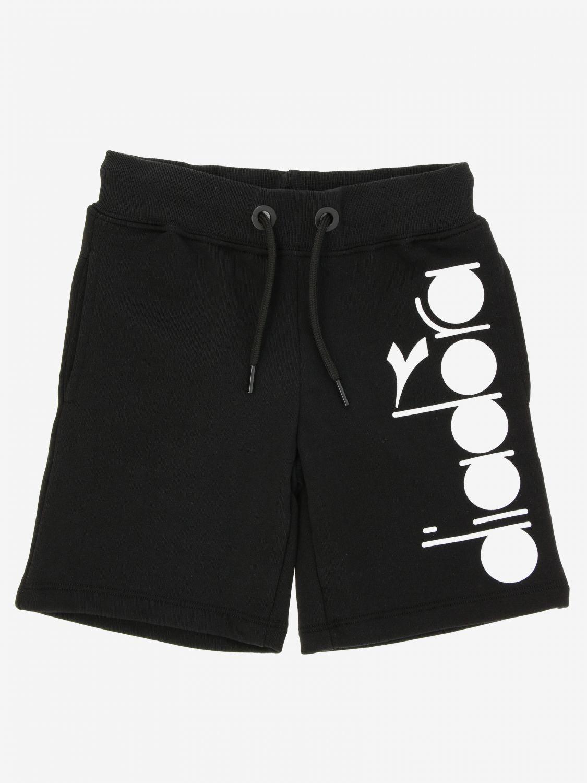 Pantaloncino Diadora: Pantaloncino jogging Diadora con logo nero 1