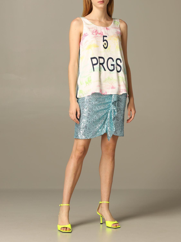 Skirt 5 Progress: Skirt women 5 Progress gnawed blue 2