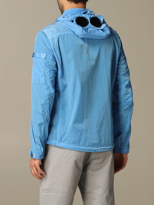 Giacca di nylon C.p. Company con cappuccio azzurro 2