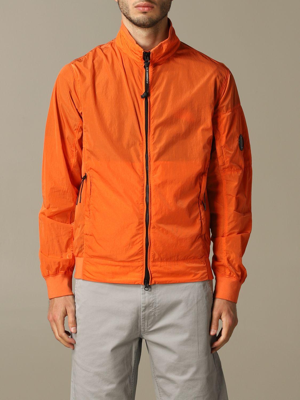 Giubbotto sportivo C.p. Company con zip arancione 1