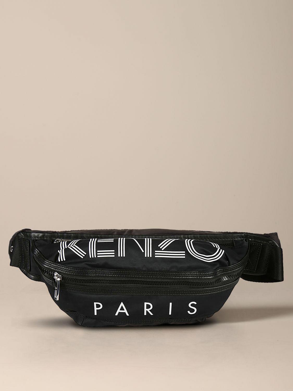 Kenzo canvas belt bag with logo black 1