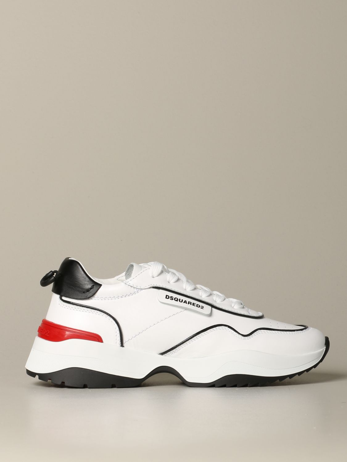 Sneakers Dsquared2: Dsquared2 leather sneakers with logo white 1