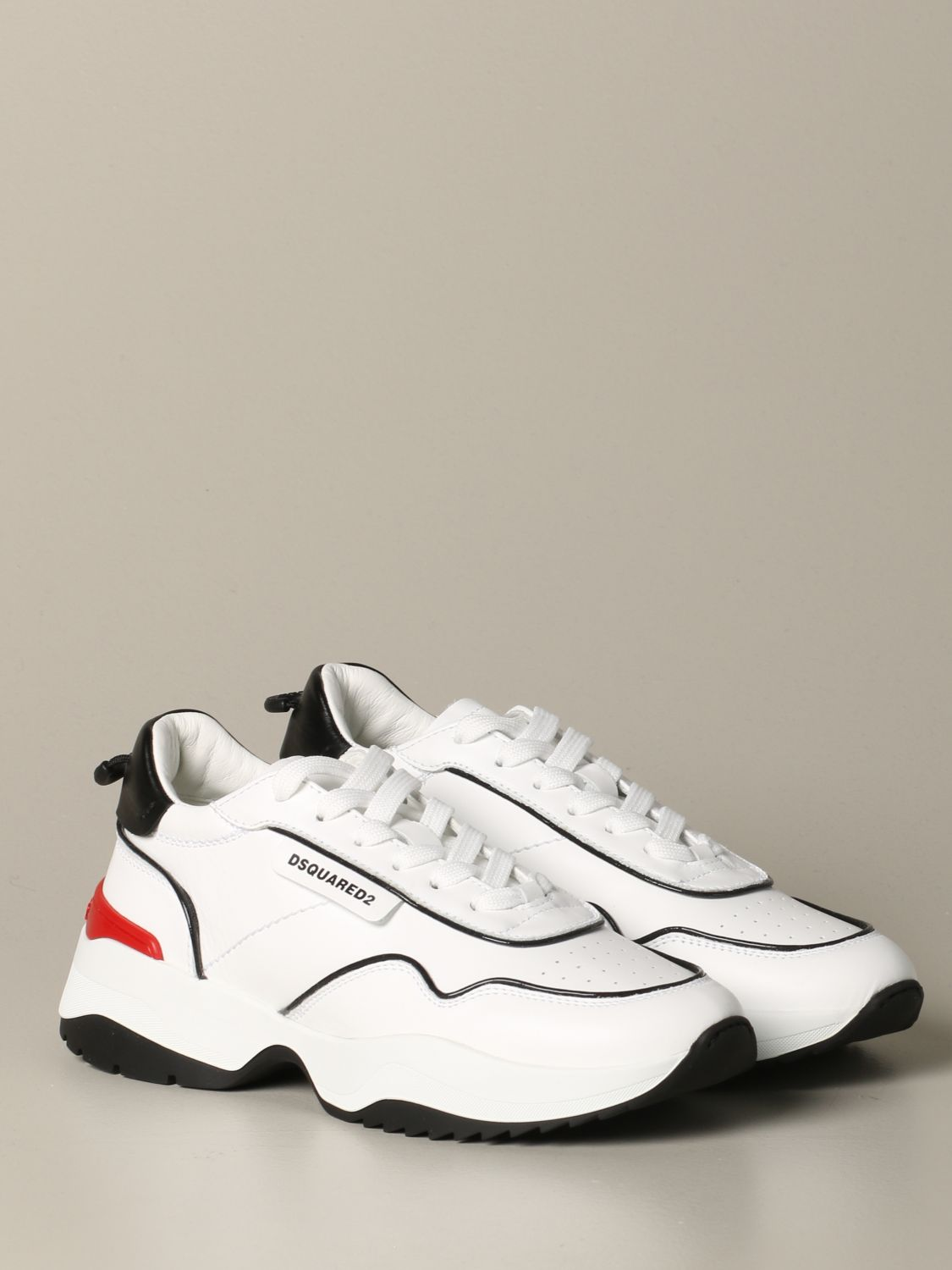 Sneakers Dsquared2: Dsquared2 leather sneakers with logo white 2