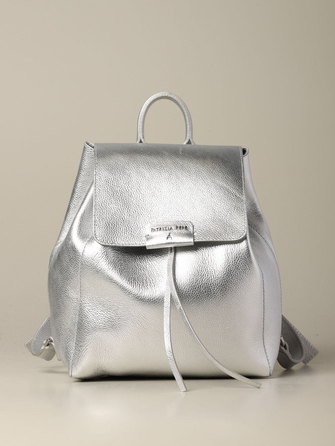 Backpack women Patrizia Pepe silver 1