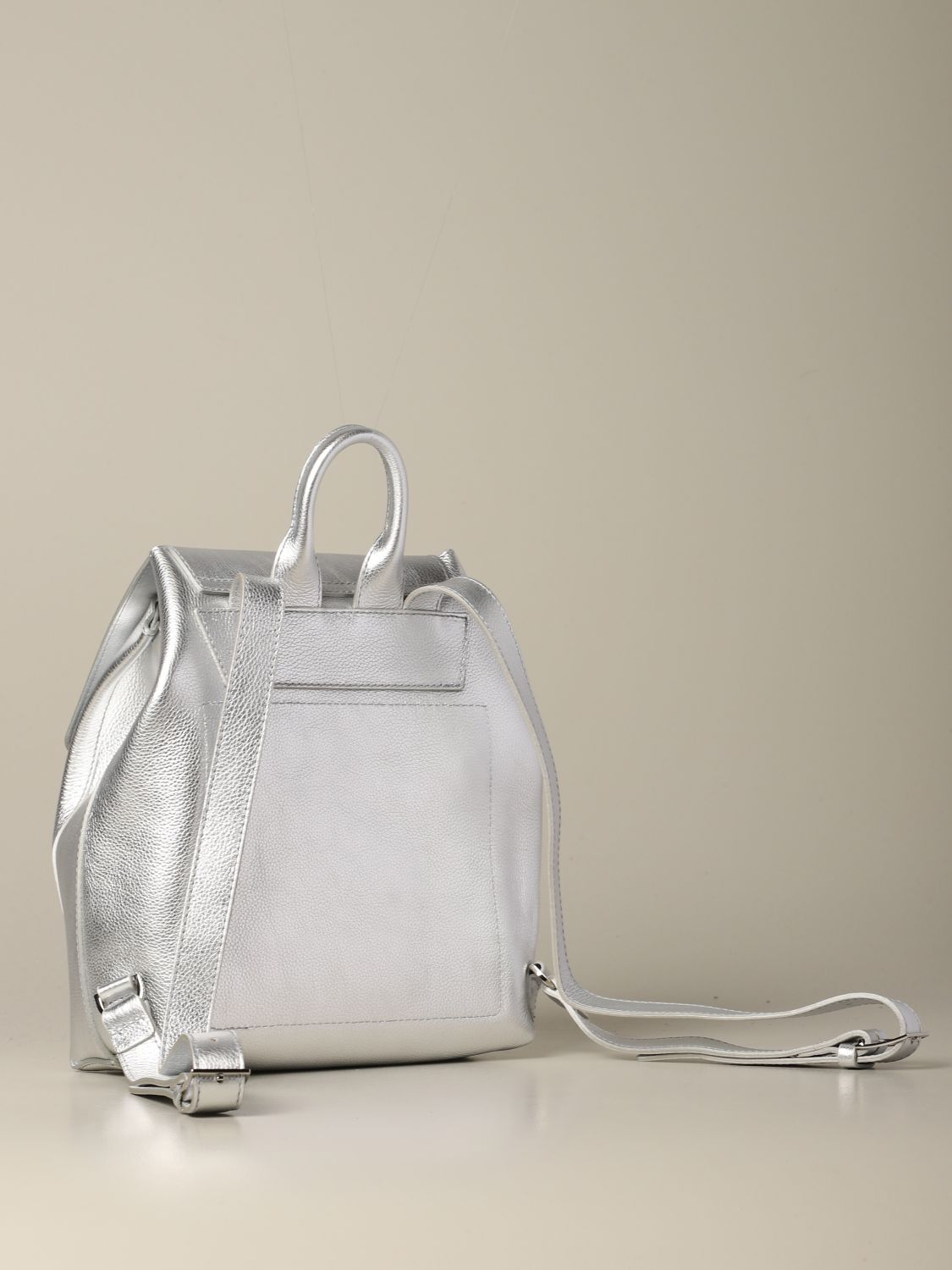 Backpack women Patrizia Pepe silver 2