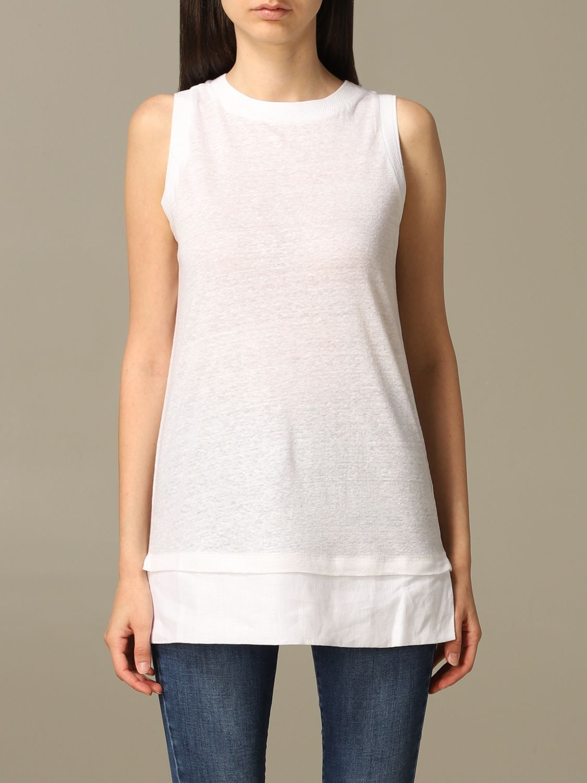 T恤 Alpha Studio: 毛衣 女士 Alpha Studio 白色 1