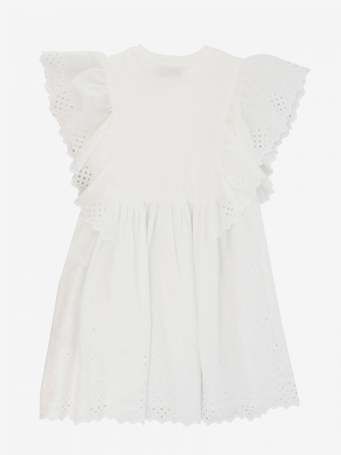 Dress Alberta Ferretti Junior: Alberta Ferretti Junior dress with Sangallo ruffles white 2