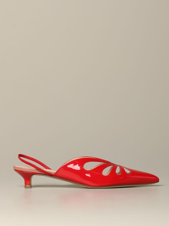 鞋 女士 Francesco Russo 红色 1