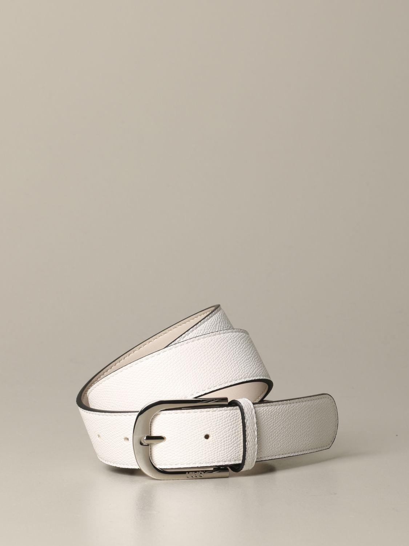 Liu Jo belt in micro textured leather white 1