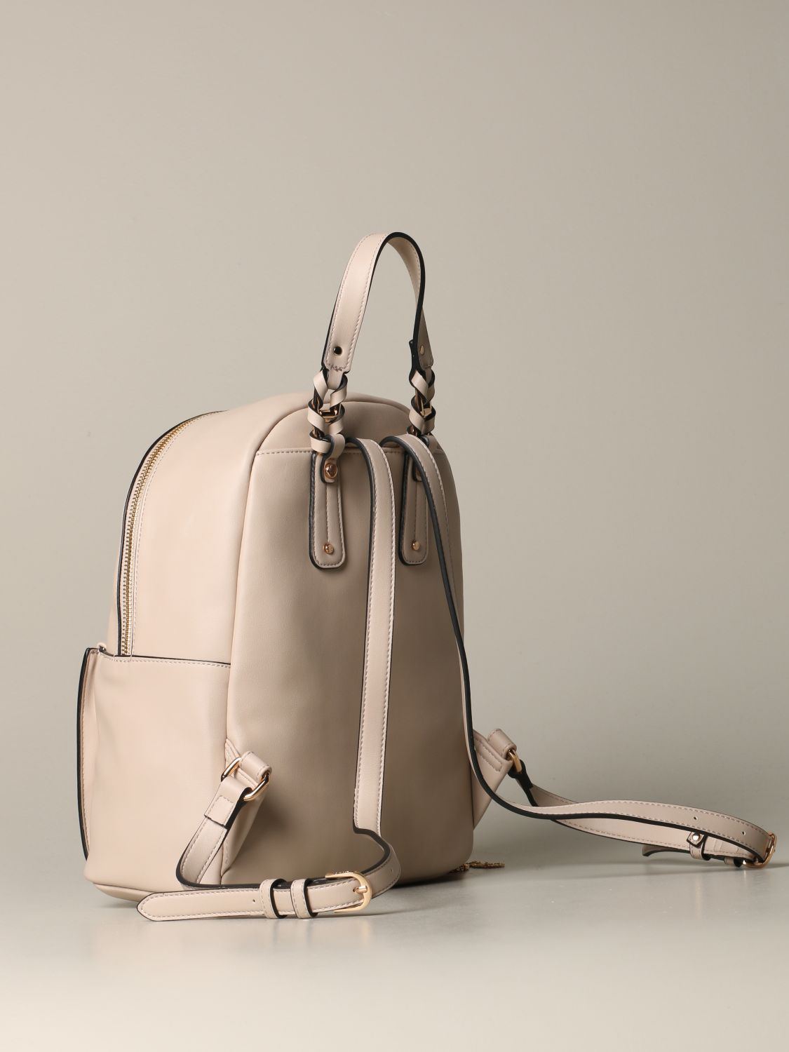 Liu Jo backpack in synthetic leather with logo beige 3