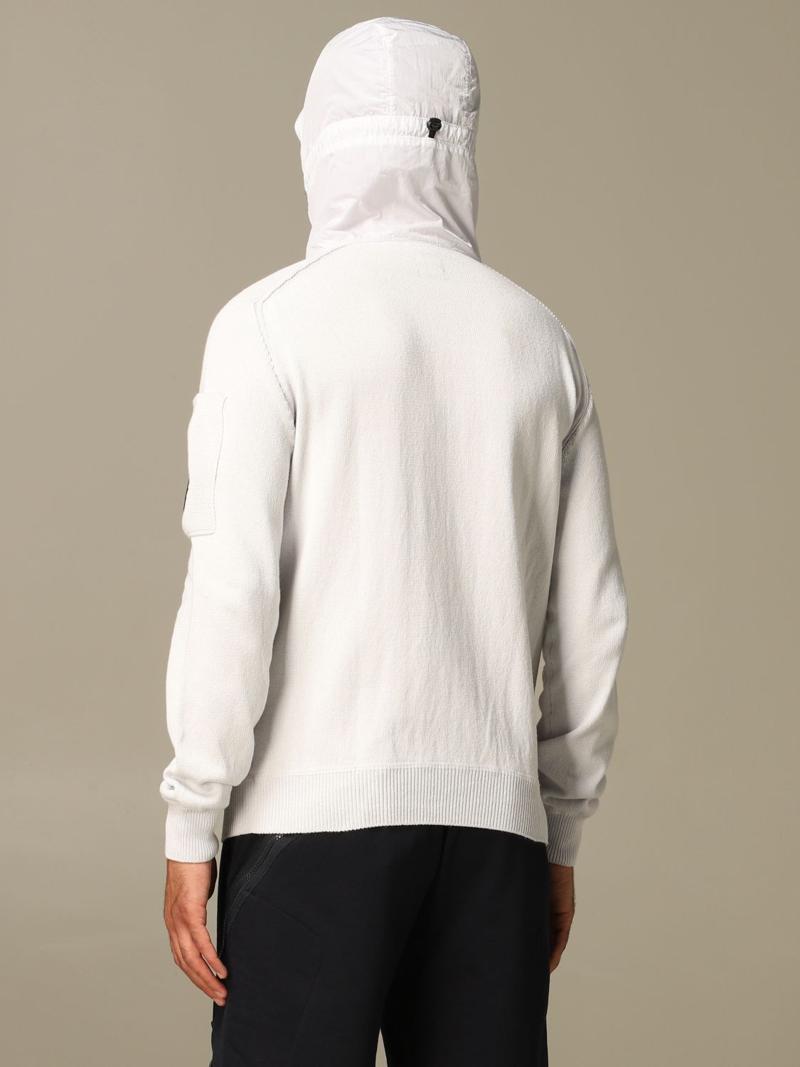Sweatshirt C.p. Company: C.p. Company sweatshirt with hood and zip white 2