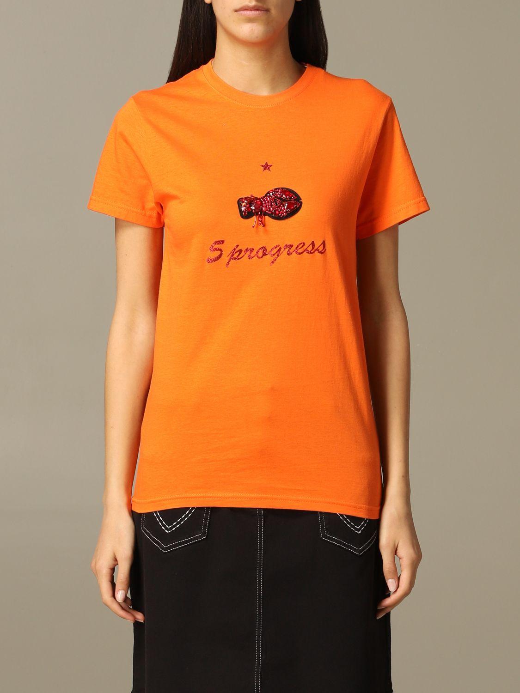 T-shirt 5 Progress: T-shirt 5 Progress a maniche corte arancione 1