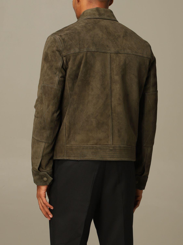 Jacket Ami Alexandre Mattiussi: Ami Alexandre Mattiussi jacket in suede goat leather olive 3