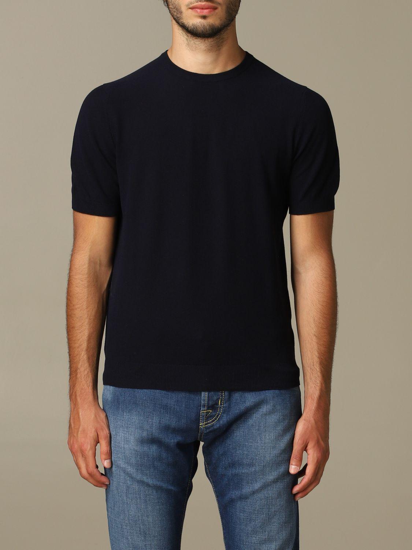 Pullover herren Tagliatore blau 1