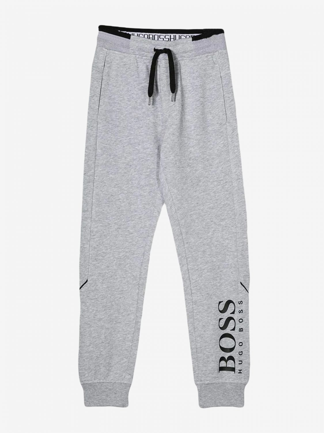 Hugo Boss jogging trousers with logo grey 1