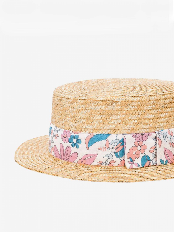 Cappello bimba Chloé: Cappello Chloé in rafia intrecciata con fascia a fantasia fantasia 2