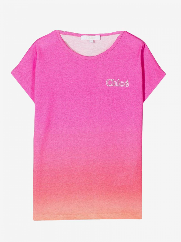 Maglia Chloé: T-shirt Chloé con stampa logo fantasia 1
